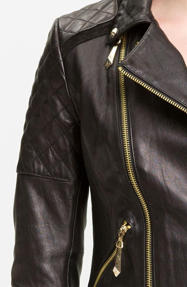 Alternate Image 3  - Sam Edelman Quilted Leather Moto Jacket
