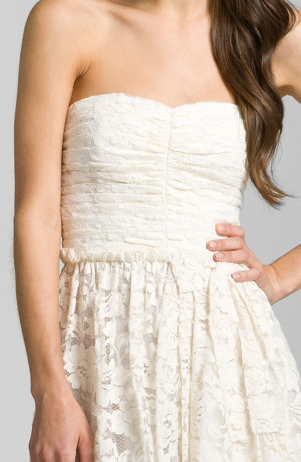 Sweetheart Lace Dress,                             Alternate thumbnail 4, color,                             Ivory