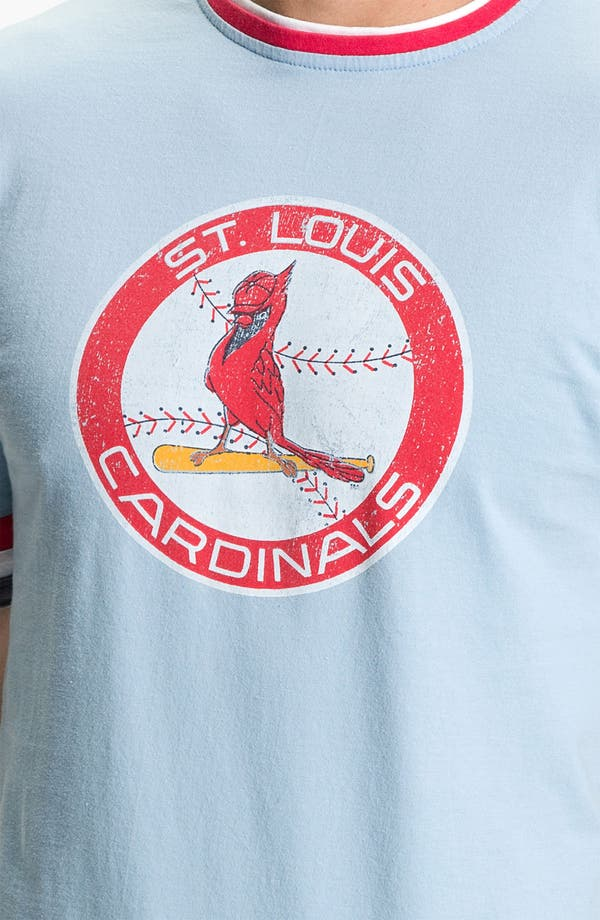 Alternate Image 3  - Red Jacket 'St. Louis Cardinals' Trim Fit Crewneck Ringer T-Shirt (Men)