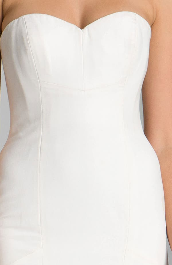 Nicole Miller Dakota Faille Trumpet Dress | Nordstrom