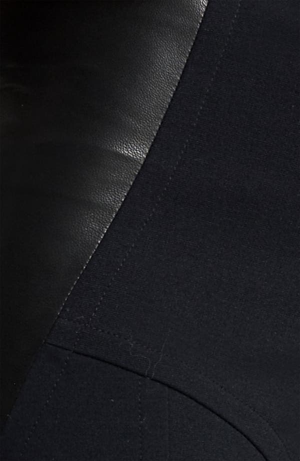 Alternate Image 3  - Yigal Azrouël Leather Panel Ponte Leggings