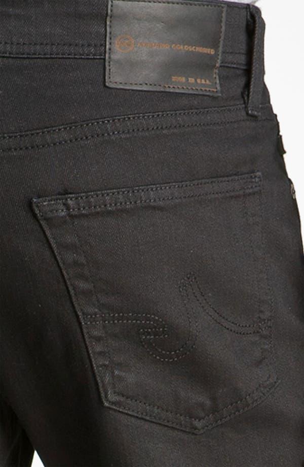 Alternate Image 4  - AG 'Protégé' Straight Leg Jeans (Black Overdye)