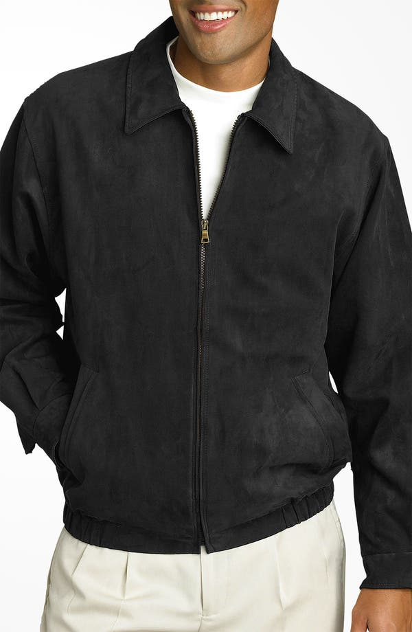 Alternate Image 1 Selected - Cutter & Buck 'City Bomber' Microsuede Jacket
