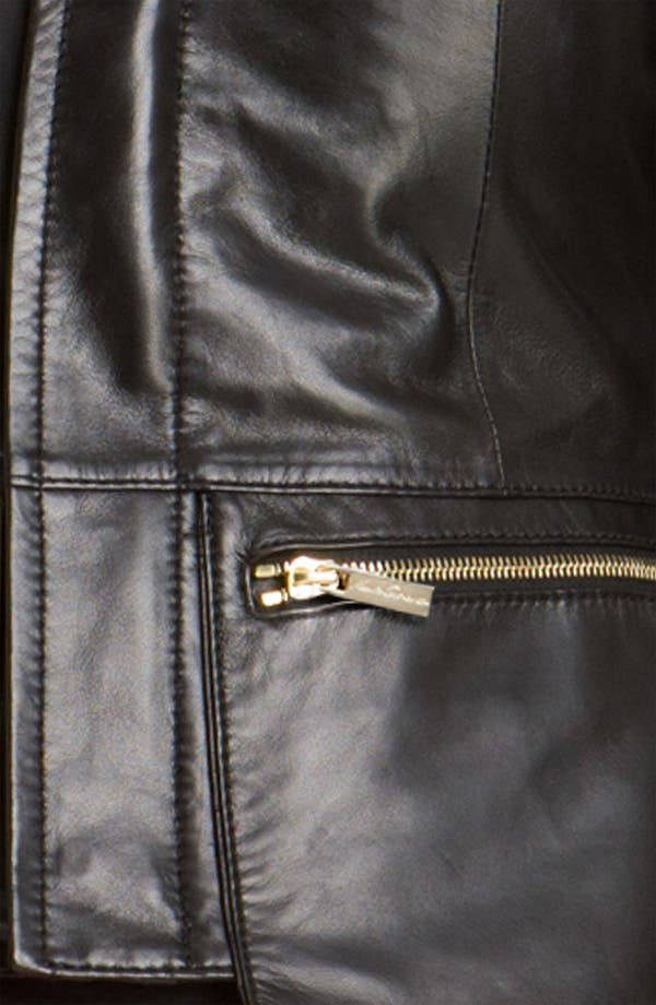 Alternate Image 3  - Kenneth Cole New York Wing Collar Leather Jacket