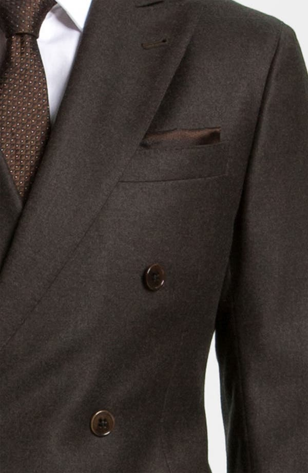 Alternate Image 6  - Armani Collezioni 'Sartorial' Double Breasted Trim Fit Suit