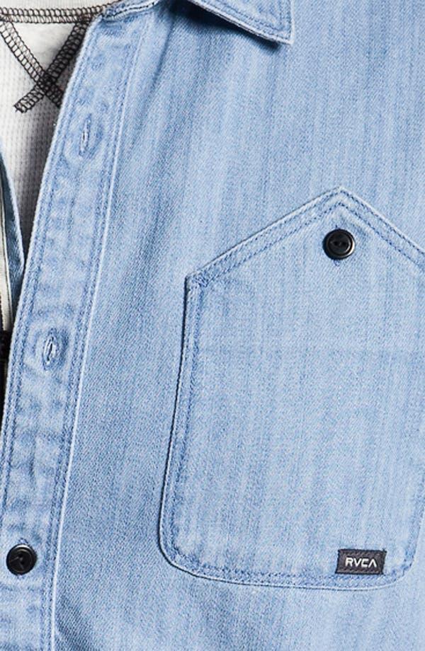 Alternate Image 3  - RVCA 'Bound' Chambray Woven Shirt