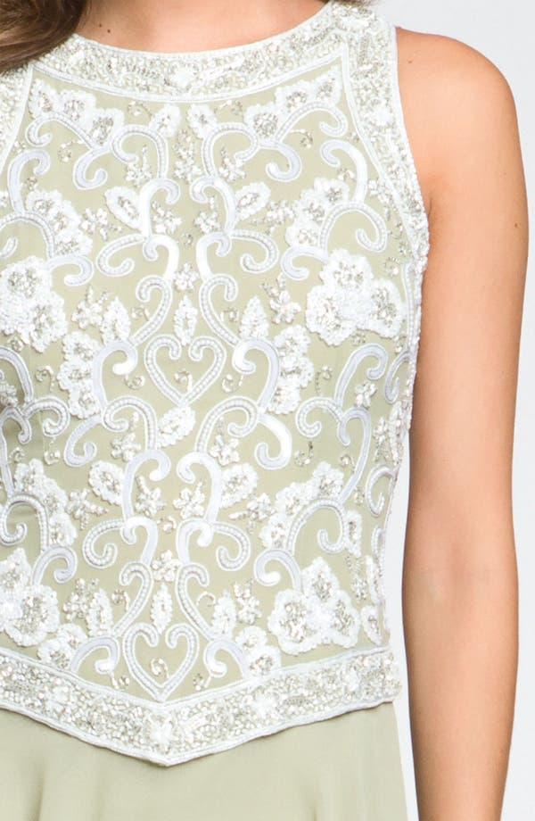 Alternate Image 3  - J Kara Embellished Sleeveless Crepe Gown (Petite)