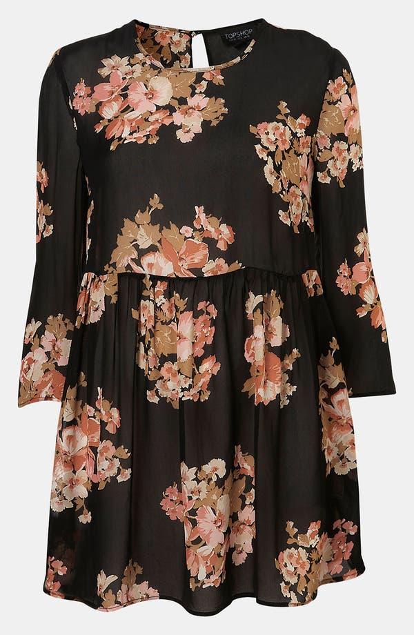 Main Image - Topshop Floral Print Cutout Back Tunic
