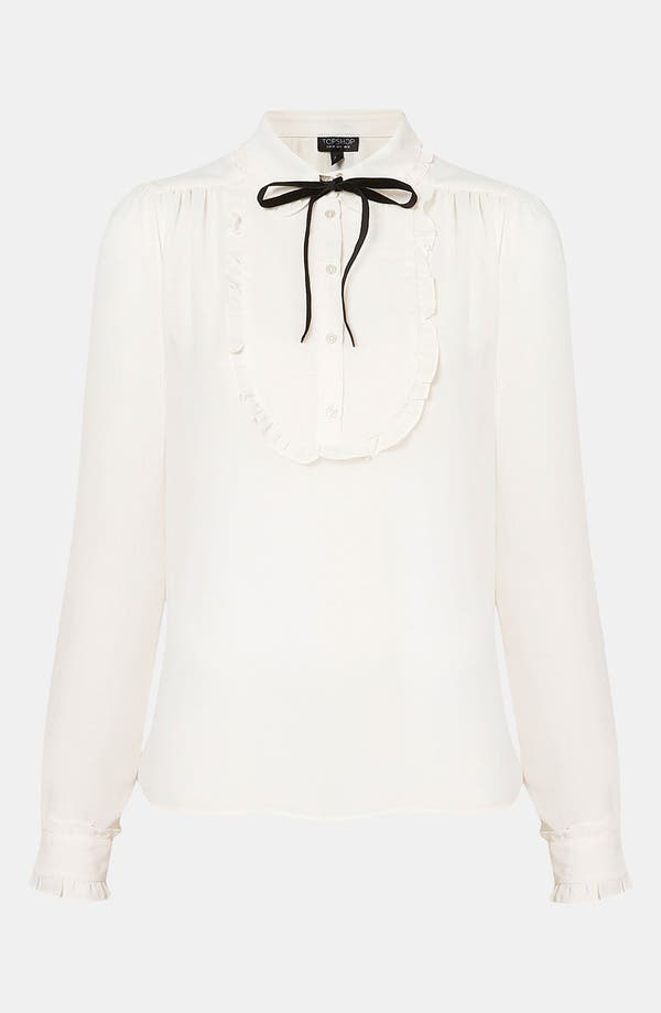 Alternate Image 1 Selected - Topshop Bib Front Shirt
