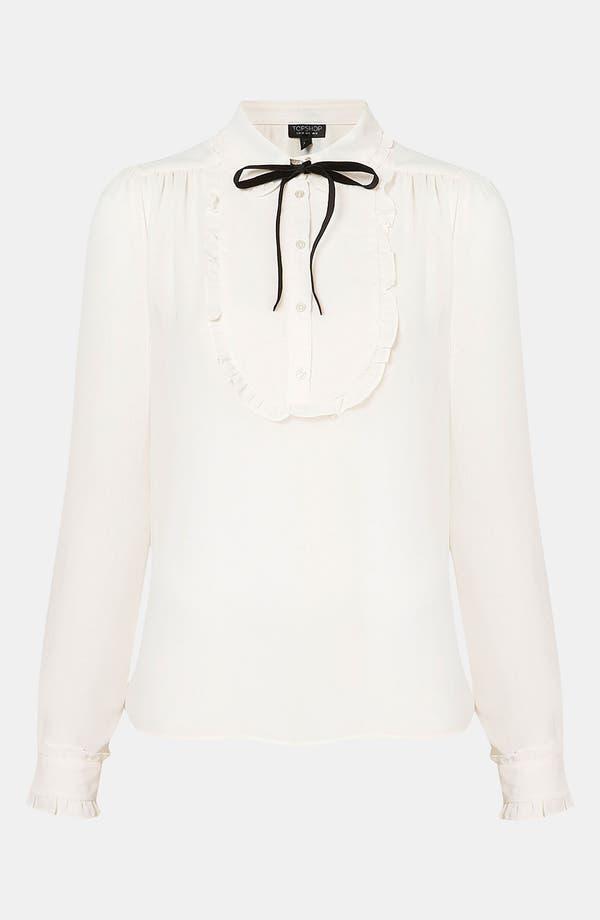 Bib Front Shirt,                         Main,                         color, Cream