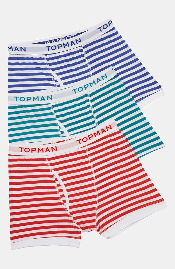 Alternate Image 1 Selected - Topman Stripe Boxer Briefs (3-Pack)