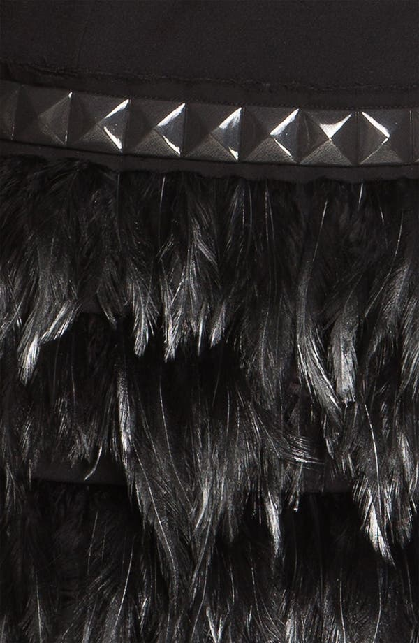 Alternate Image 3  - MICHAEL Michael Kors Feather Trim Dress