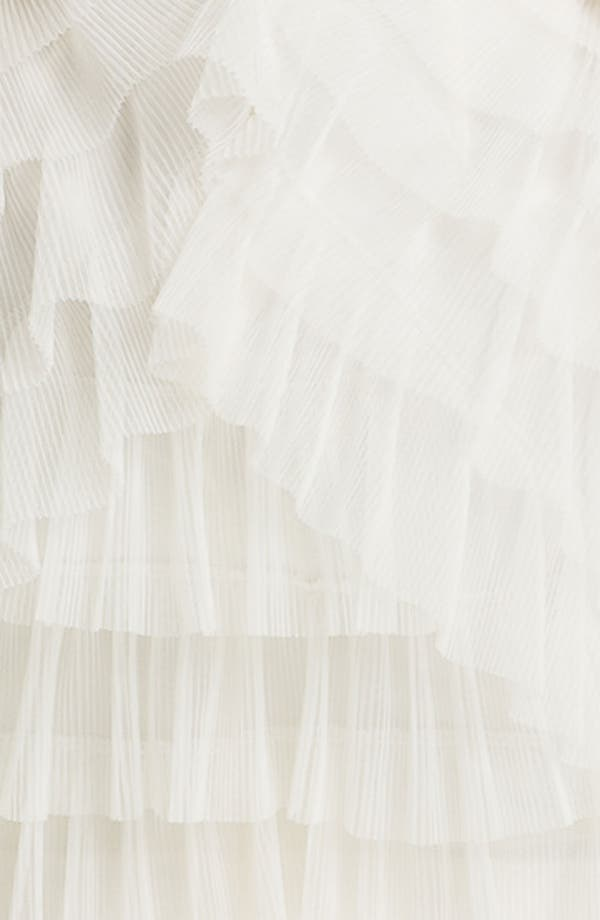 Alternate Image 3  - BCBGMAXAZRIA Strapless Mesh Tier Satin Dress
