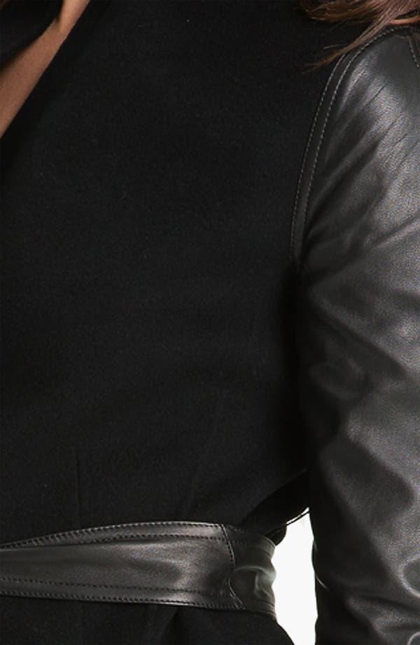 Alternate Image 3  - Dawn Levy 'Minka' Wool & Leather Coat