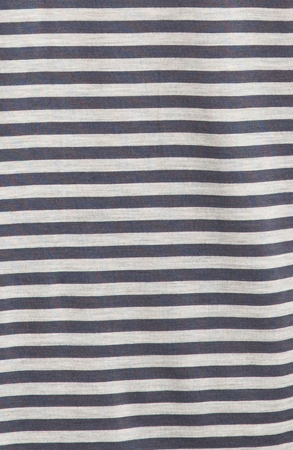 Alternate Image 3  - Daniel Buchler Silk Blend Heathered Stripe T-Shirt