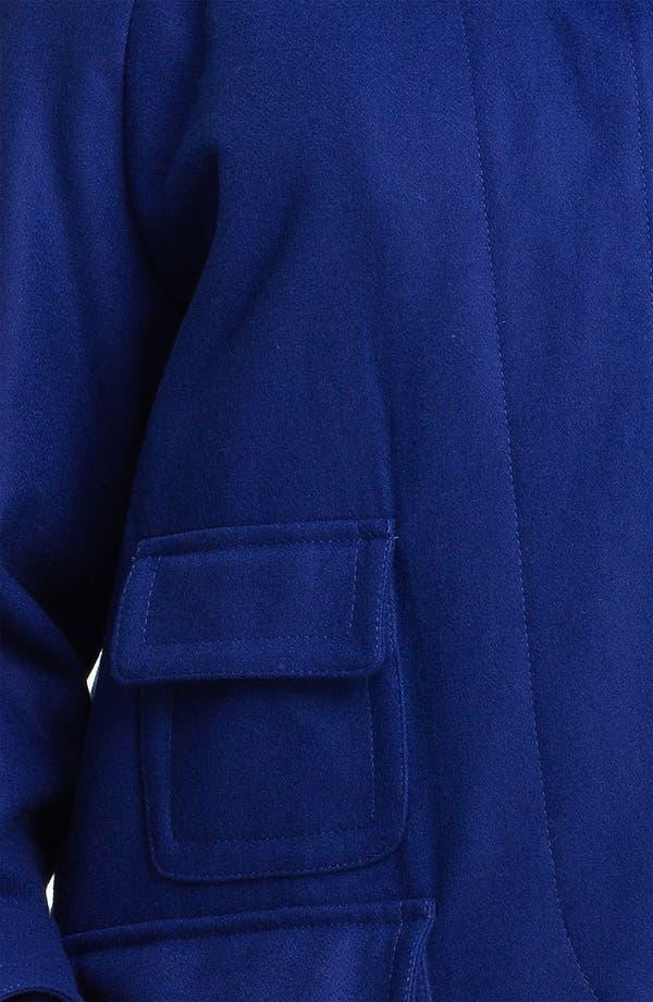Alternate Image 3  - Ellen Tracy Fly Front Stadium Coat (Plus) (Nordstrom Exclusive)