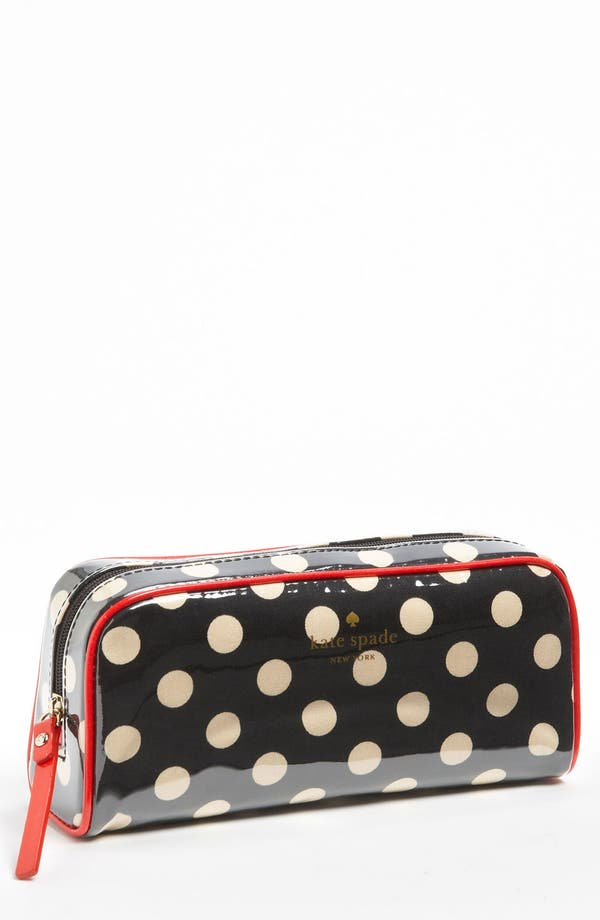 Main Image - kate spade new york 'cobblestone - small henrietta' cosmetics case