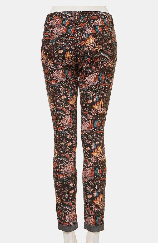 Alternate Image 2  - Topshop Moto 'Scandi' Floral Print Skinny Jeans