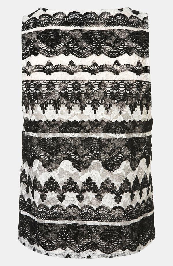 Alternate Image 2  - Topshop 'Baroque' Velvet Lace Tank