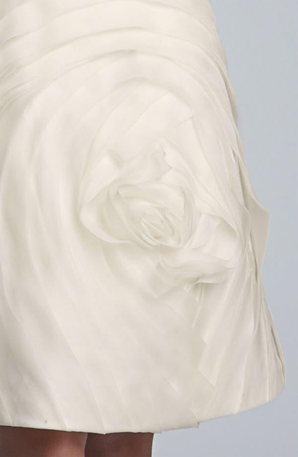 Alternate Image 3  - Carmen Marc Valvo Pleated Rosette Silk Chiffon Dress