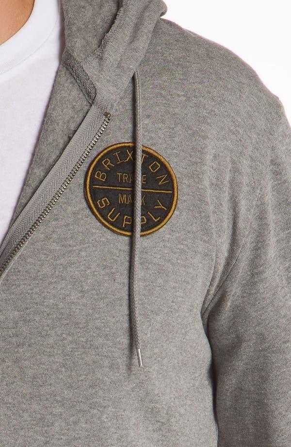 Alternate Image 3  - Brixton 'Civil' Hooded Zip Front Sweatshirt