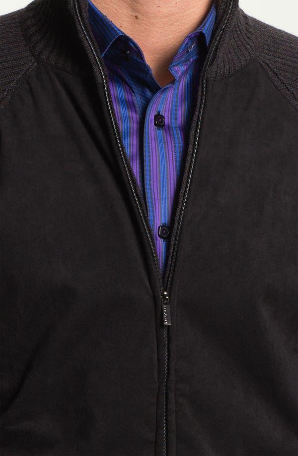 Alternate Image 3  - Bugatchi Uomo Merino Wool Zip Cardigan