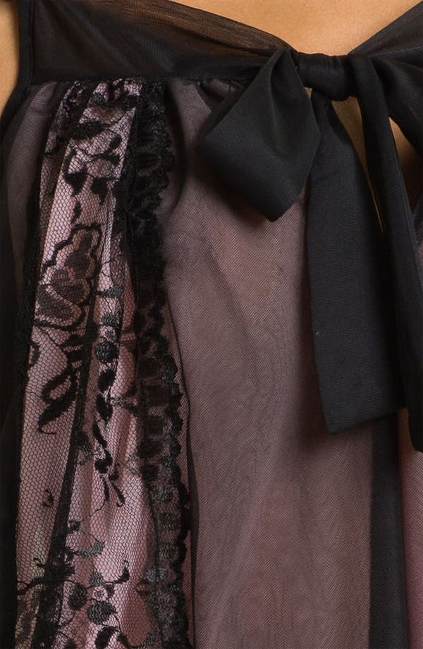 Alternate Image 3  - Betsey Johnson Lace Inset Sheer Tricot Slip