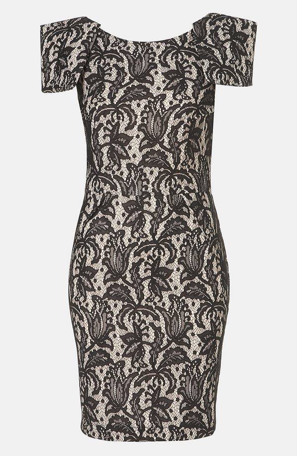 Alternate Image 1 Selected - Topshop Lace Pencil Dress