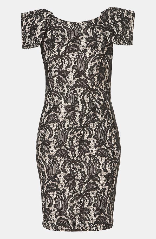 Main Image - Topshop Lace Pencil Dress