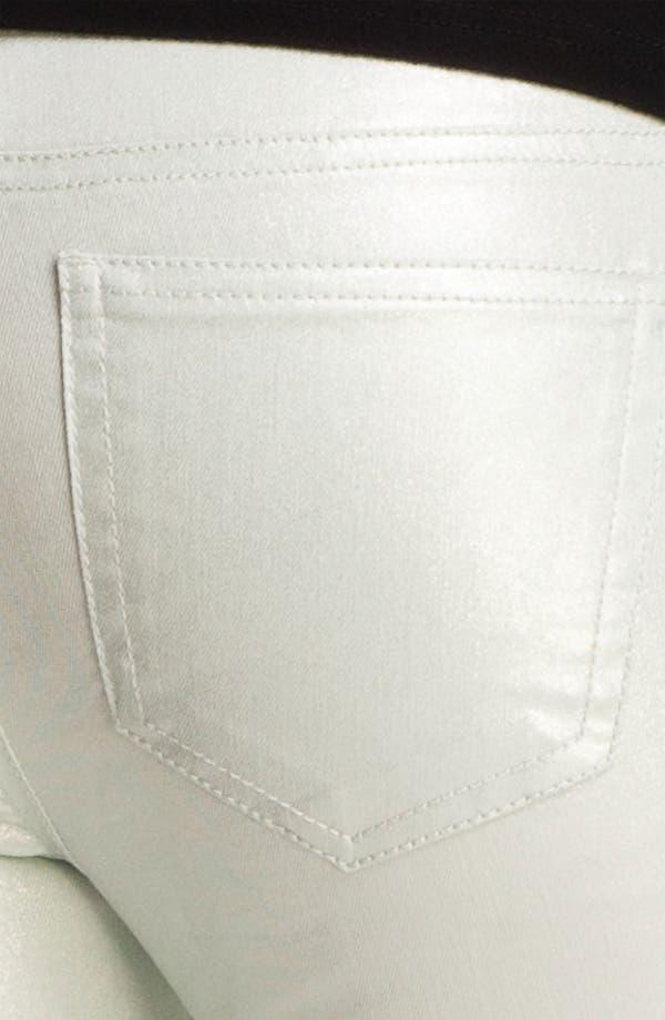 Alternate Image 3  - Fire Pearl Coated Skinny Jeans (Juniors)