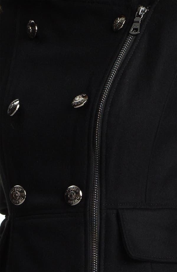 Alternate Image 3  - GUESS Zip Front Wool Blend Coat (Online Exclusive)