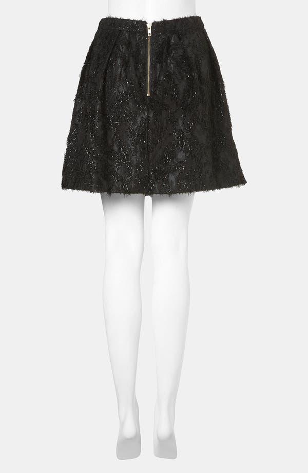 Alternate Image 2  - Topshop Metallic Feather Skater Skirt