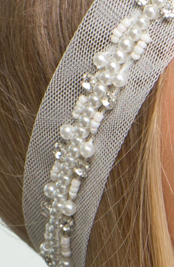 Alternate Image 2  - Carole Pearl & Mesh Headband