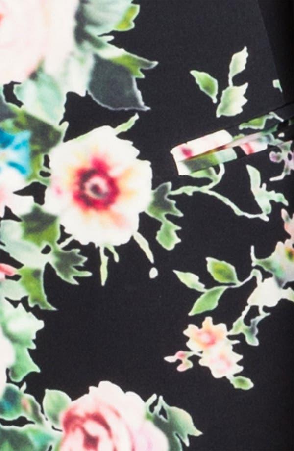 Alternate Image 3  - Truth and Pride 'Dark Vintage Rose' Print Silk Blazer