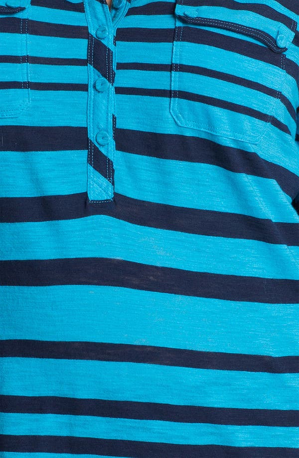 Alternate Image 3  - Lucky Brand 'Gayle' Stripe Henley (Plus)