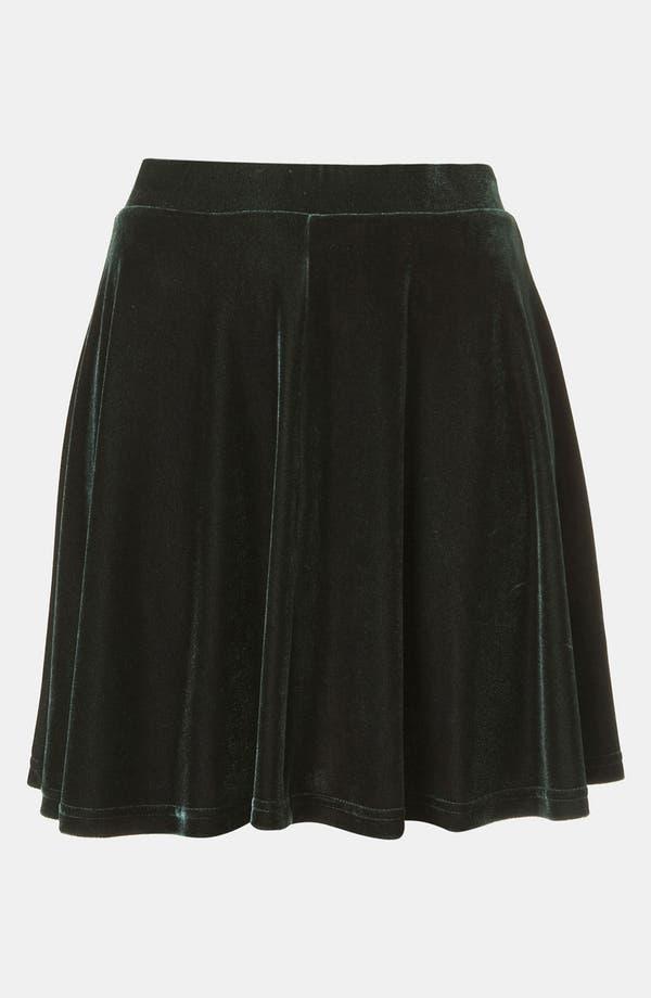 Alternate Image 1 Selected - Topshop Velour Skater Skirt