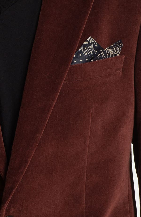 Alternate Image 3  - Scotch & Soda Trim Fit Velvet Blazer