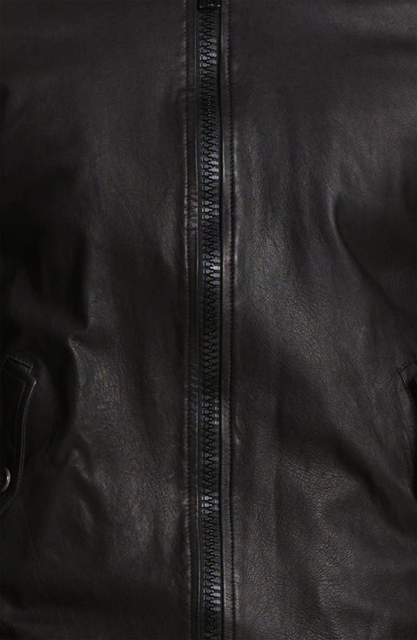 Alternate Image 3  - Band of Outsiders Leather Bomber Jacket