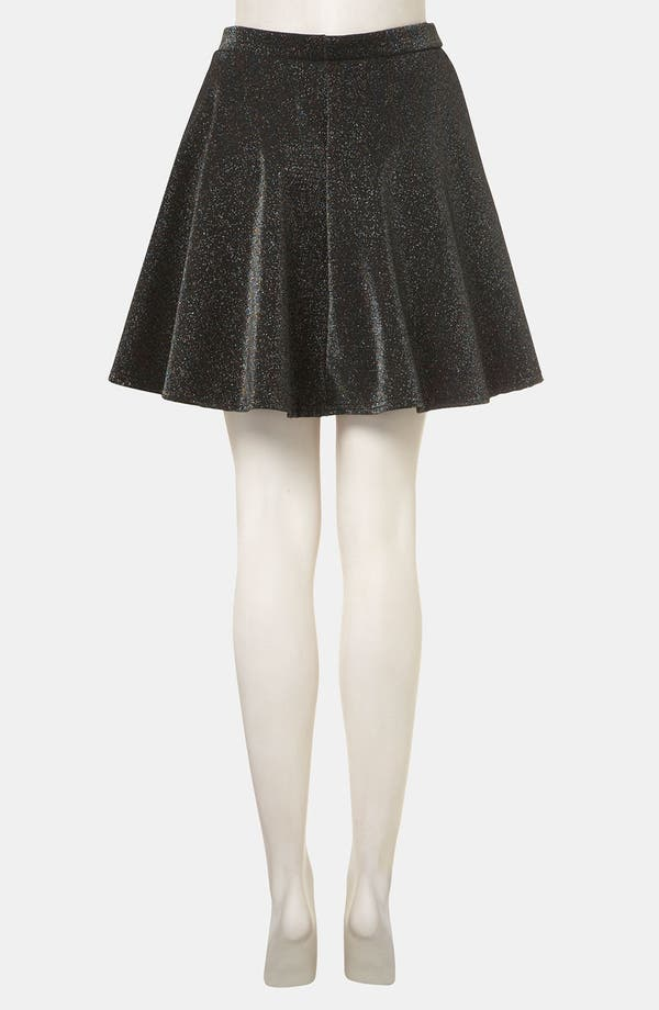 Alternate Image 2  - Topshop Glitter Skater Skirt