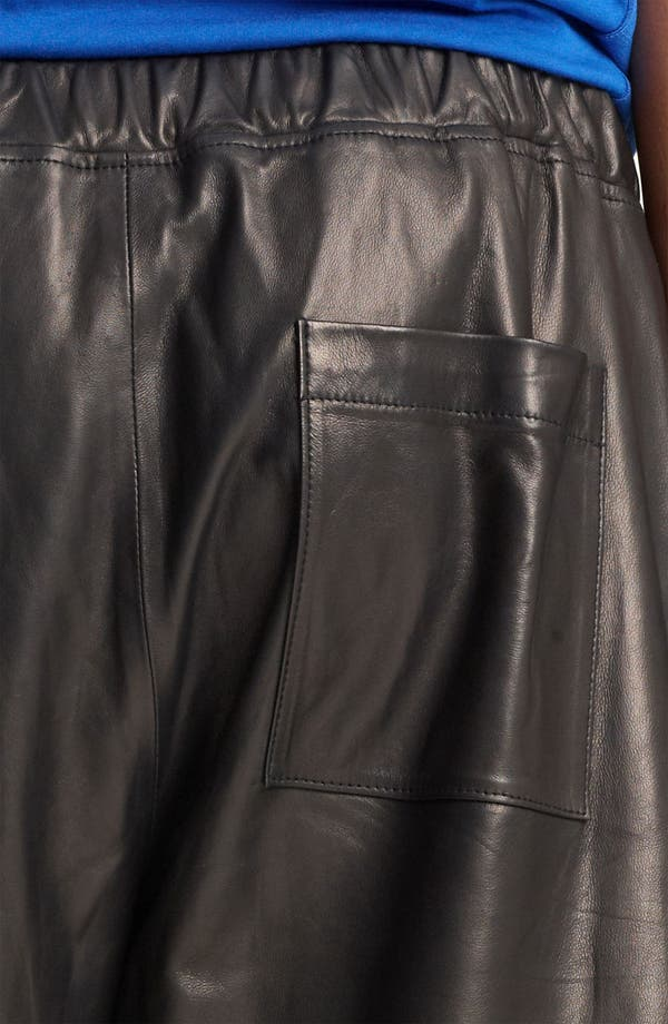 Alternate Image 3  - T by Alexander Wang Leather Shorts