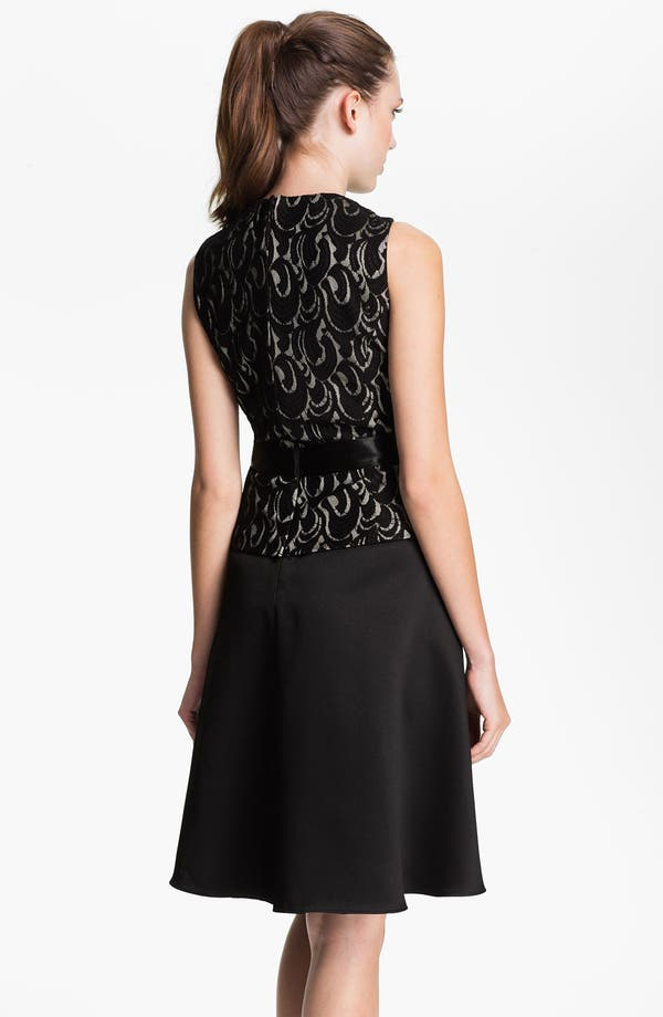 Alternate Image 2  - Patra Lace Appliqué Satin Fit & Flare Dress