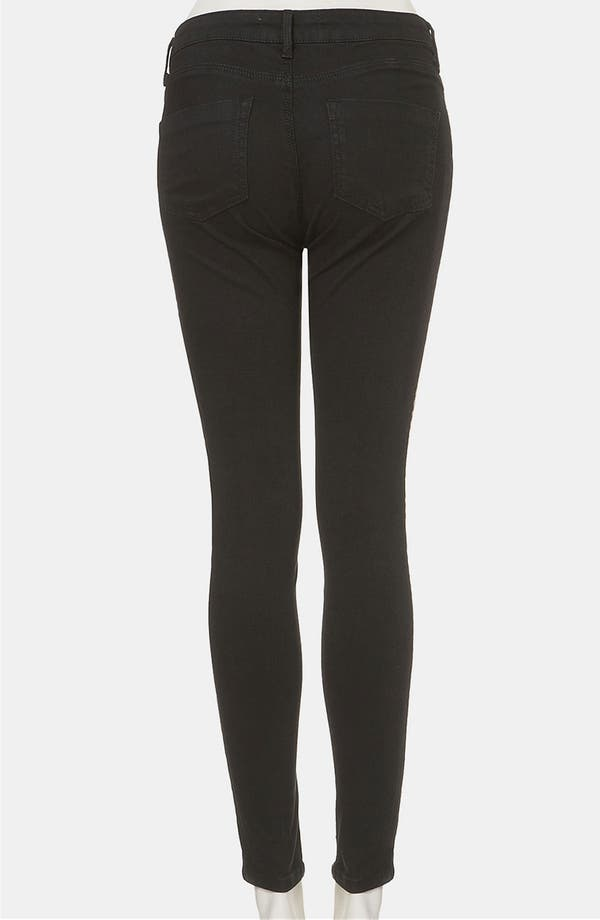 Alternate Image 2  - Topshop 'Antonio' Embroidered Skinny Jeans