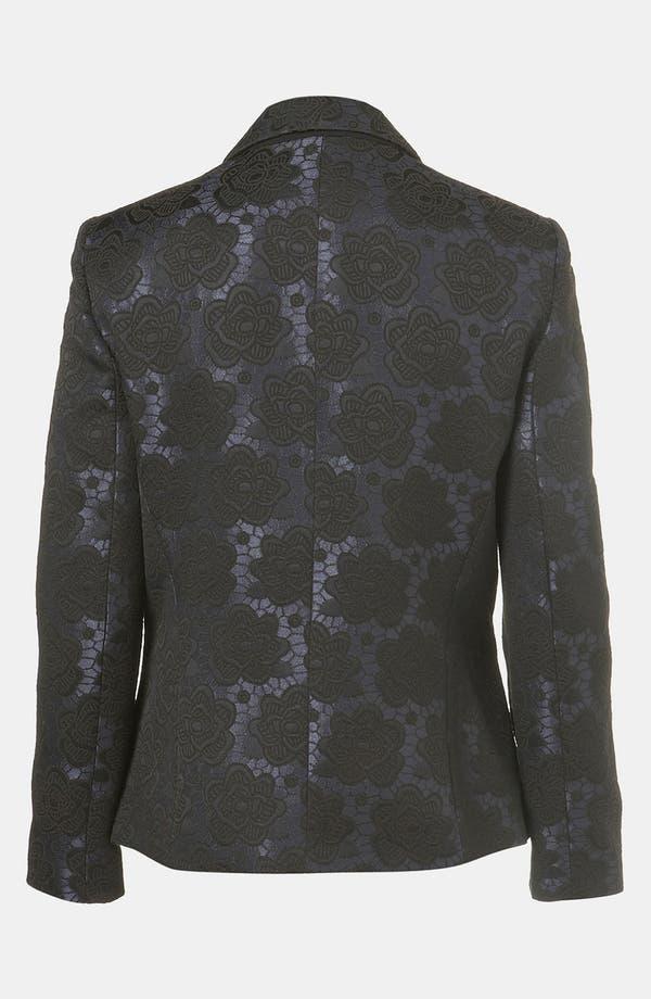 Alternate Image 2  - Topshop Floral Jacquard Tux Blazer