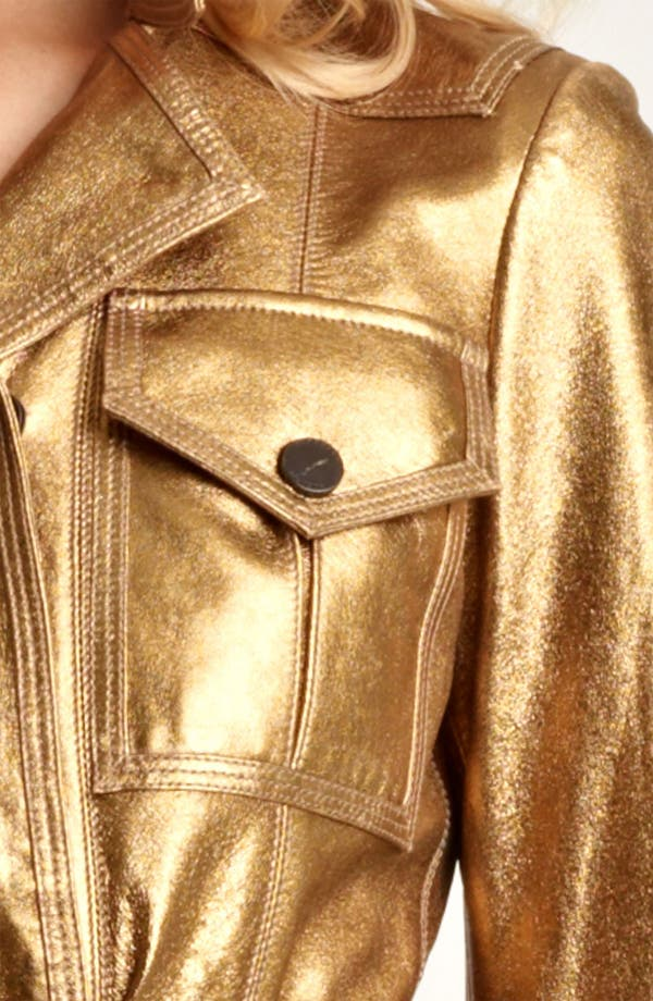 Alternate Image 3  - Burberry London Lightweight Metallic Leather Trench Coat
