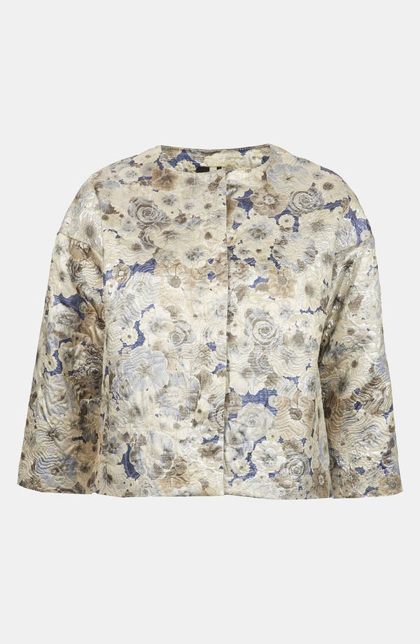 Main Image - Topshop Floral Jacquard Jacket
