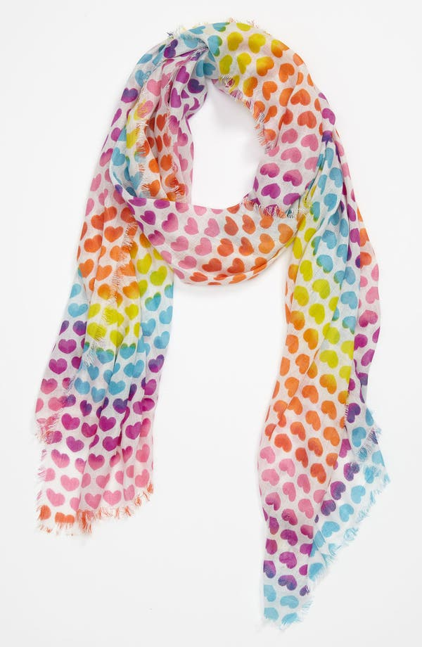 Alternate Image 1 Selected - Peace of Cake 'Rainbow Hearts' Scarf (Girls)