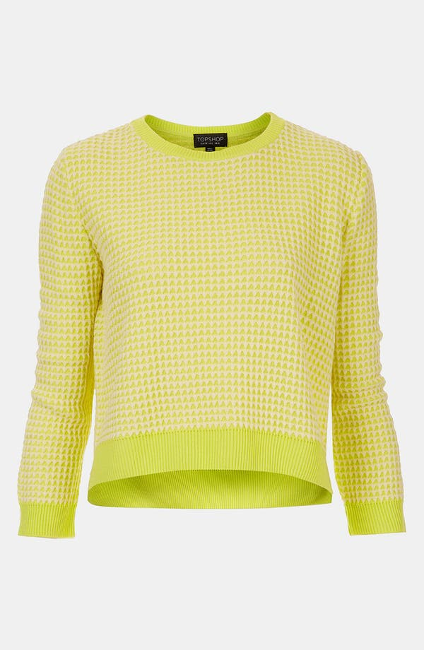Alternate Image 1 Selected - Topshop Neon Crop Sweater