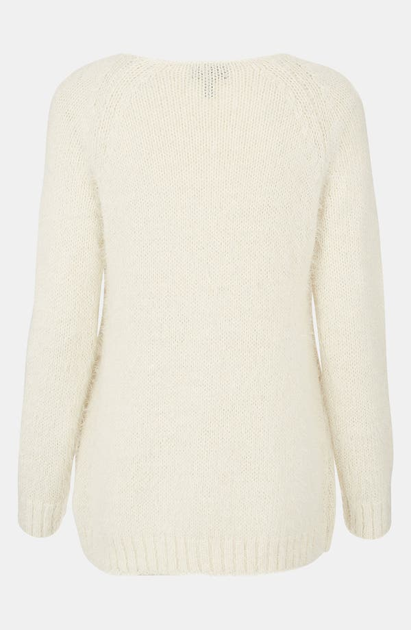 Alternate Image 2  - Topshop Feather Knit Sweater