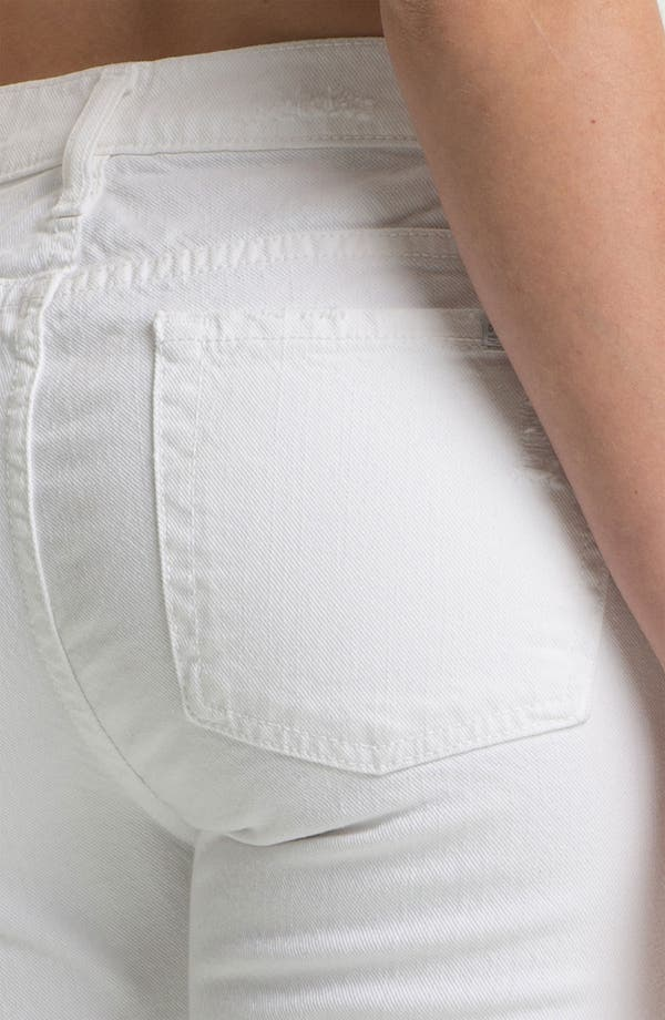 'The Slim Cigarette' Stretch Jeans,                             Alternate thumbnail 3, color,                             White Destroyed
