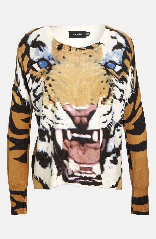Alternate Image 1 Selected - MINKPINK 'Roar' Print Pullover